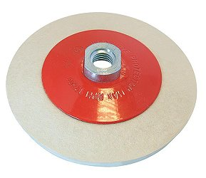 Mounted, Concave Felt Glass Polishing Pad